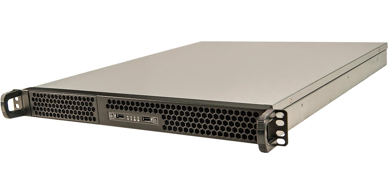 """Серверный корпус 1U NR-N155-1(ATX 10.5x12, 1х5.25, 2x3.5""""int, 550mm) черный, NegoRack"""