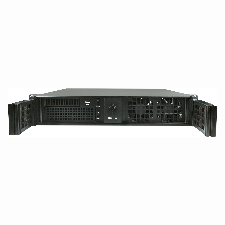 Серверный корпус 2U NR-N214D 2x700Вт (mATX 9.6x9.6, 2x5.25ext, 4x3.5int, 380mm) черный, NegoRack