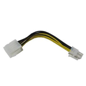 УДЛИНИТЕЛЬ (ПЕРЕХОДНИК) ПИТАНИЯ 8pin (F) --- 4pin (M) ATX m/b extension cable