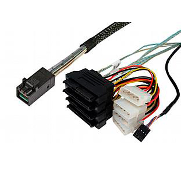 Кабель Mini SAS Cable, SFF-8643 to SFF-8482 with power