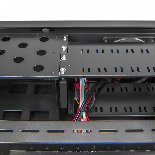 Серверный корпус 4U NR-N407 2x600Вт(ATX 10.2x12, 3x5.25ext, 1x3.5ext, 7x3.5int,450мм)черный,NegoRack