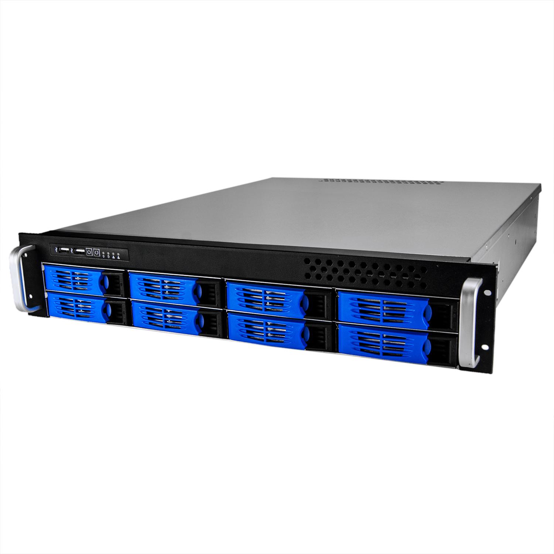 Серверный корпус 2U NR-R2008 2x800Вт 8xHot Swap SAS/SATA (ATX 10x12, 550mm), черный, Negorack