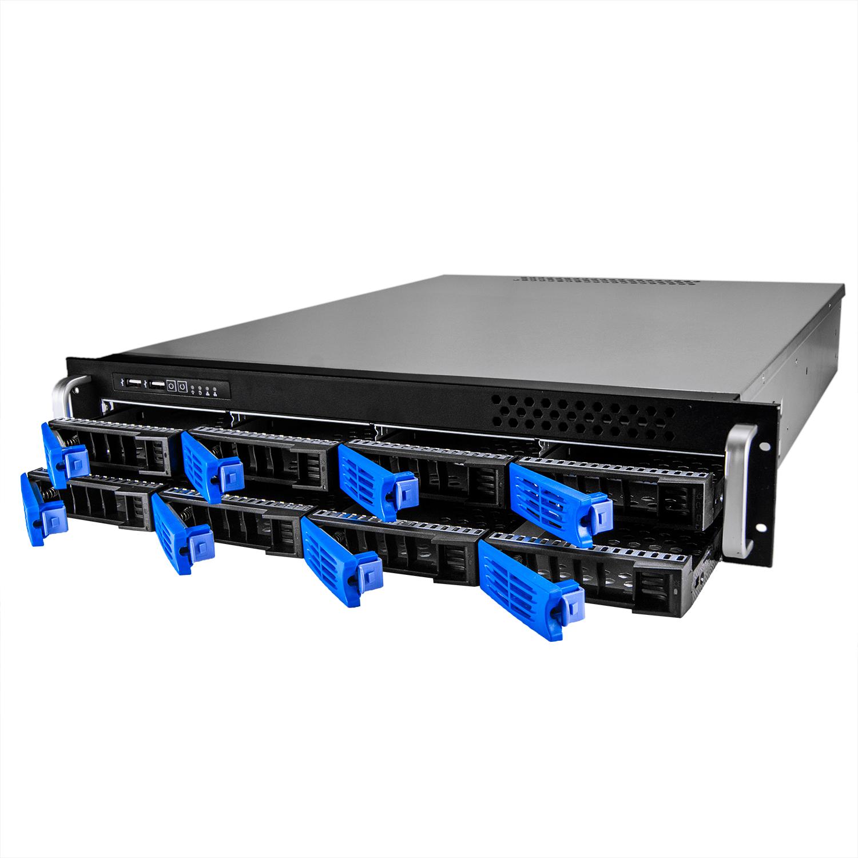 Серверный корпус 2U NR-R2008 2x600Вт 8xHot Swap SAS/SATA (ATX 10x12, 550mm), черный,Negorack