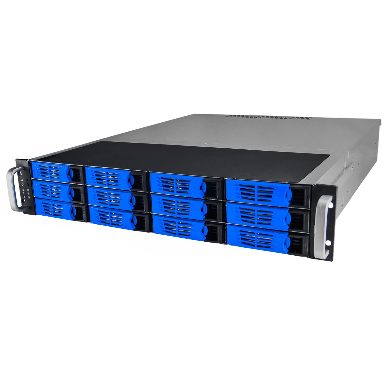 Серверный корпус 2U NR-R2012 2x1000Вт 12xHot Swap SAS/SATA (ATX 10x12, 550mm),черный, Negorack