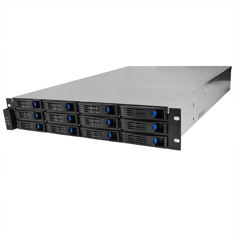 Серверный корпус 2U NR-R212-2 2x400Вт 12xHot Swap SAS/SATA (EATX 12x13, 650mm) черный, Negorack