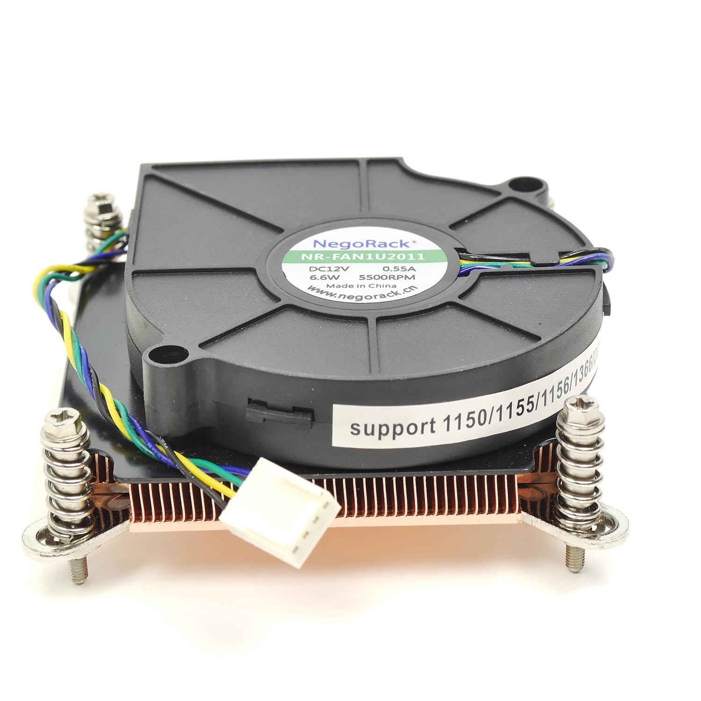 Вентилятор 1U универсальный Socket 1150/1155/1156/1366/2011 активный кулер, NR-FAN1U1366&1156&2011