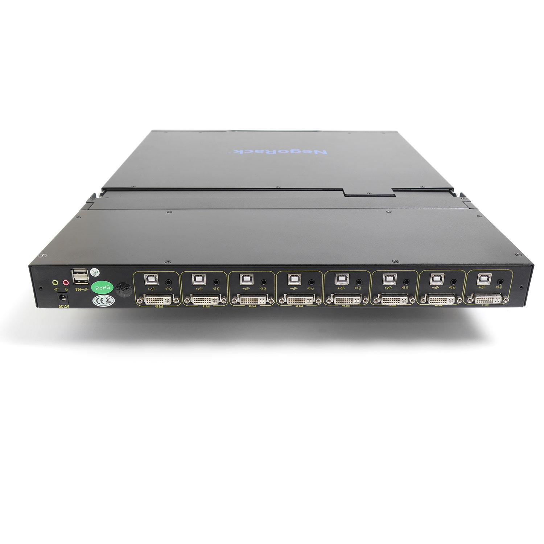 """Консоль 1U NR-MSR2908DVI, 19"""" TFT, 8 портов KVM, Монитор, клавиатура, тачпад, кабели 8шт., Negorack"""
