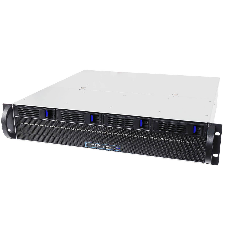 Серверный корпус 2U NR-R204 2x500Вт 4xHot Swap SAS/SATA (EATX 9.6x9.6, 380mm), черный, Negorack
