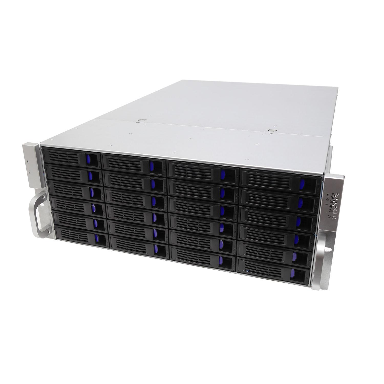 Серверный корпус 4U NR-R424 Hot Swap 24xSAS/SATA 1000Вт (EATX 12x13,650mm) черный