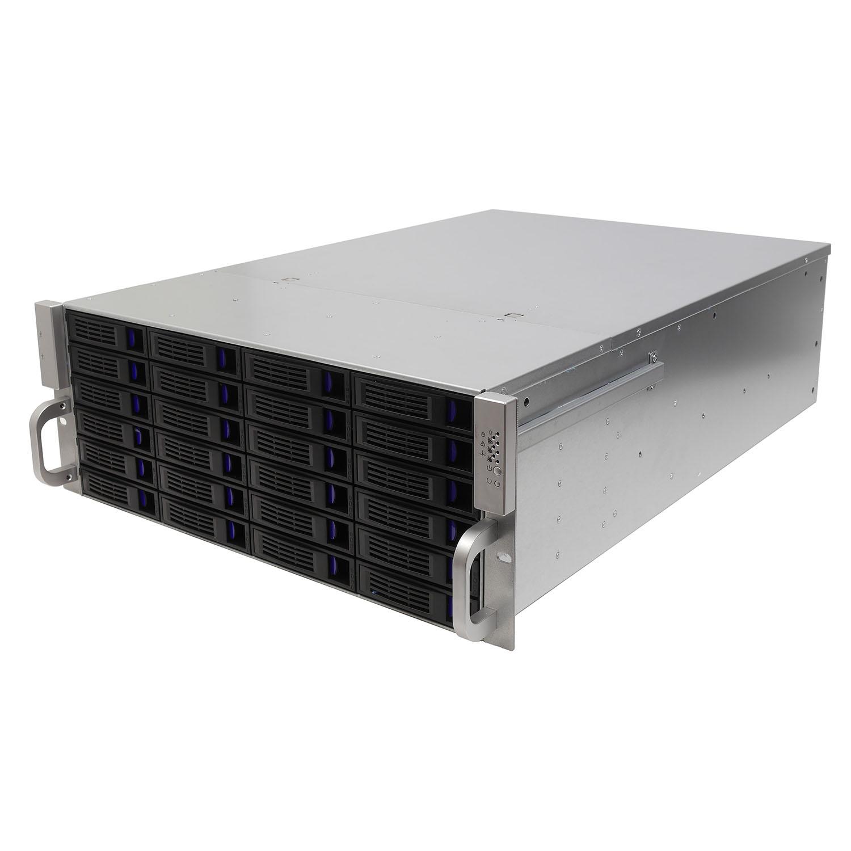 Серверный корпус 4U NR-R424 2x1200Вт Hot Swap 24xSAS/SATA (EATX 12x13,650mm) черный