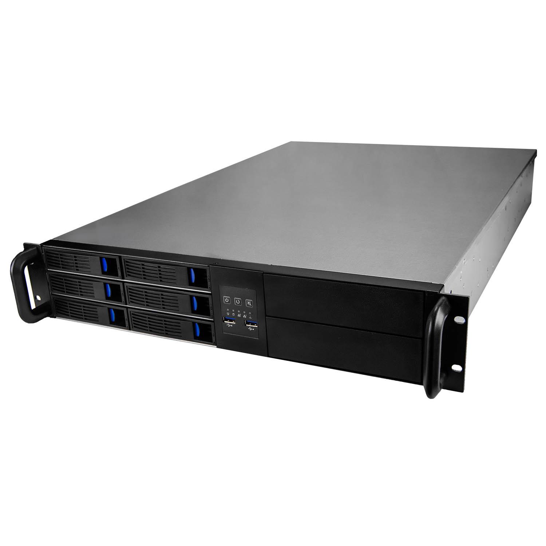 Серверный корпус 2U NR-R216 2x1600Вт 6xHot Swap SAS/SATA, 5.25x2ext (EATX 12x13, 650mm) черный