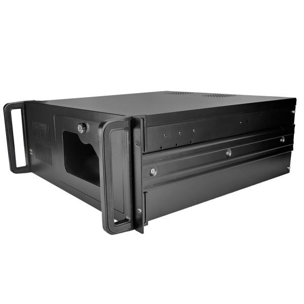 Серверный корпус 4U NR-N407 2x800Вт(ATX 10.2x12, 3x5.25ext, 1x3.5ext, 7x3.5int,450мм)черный,NegoRack