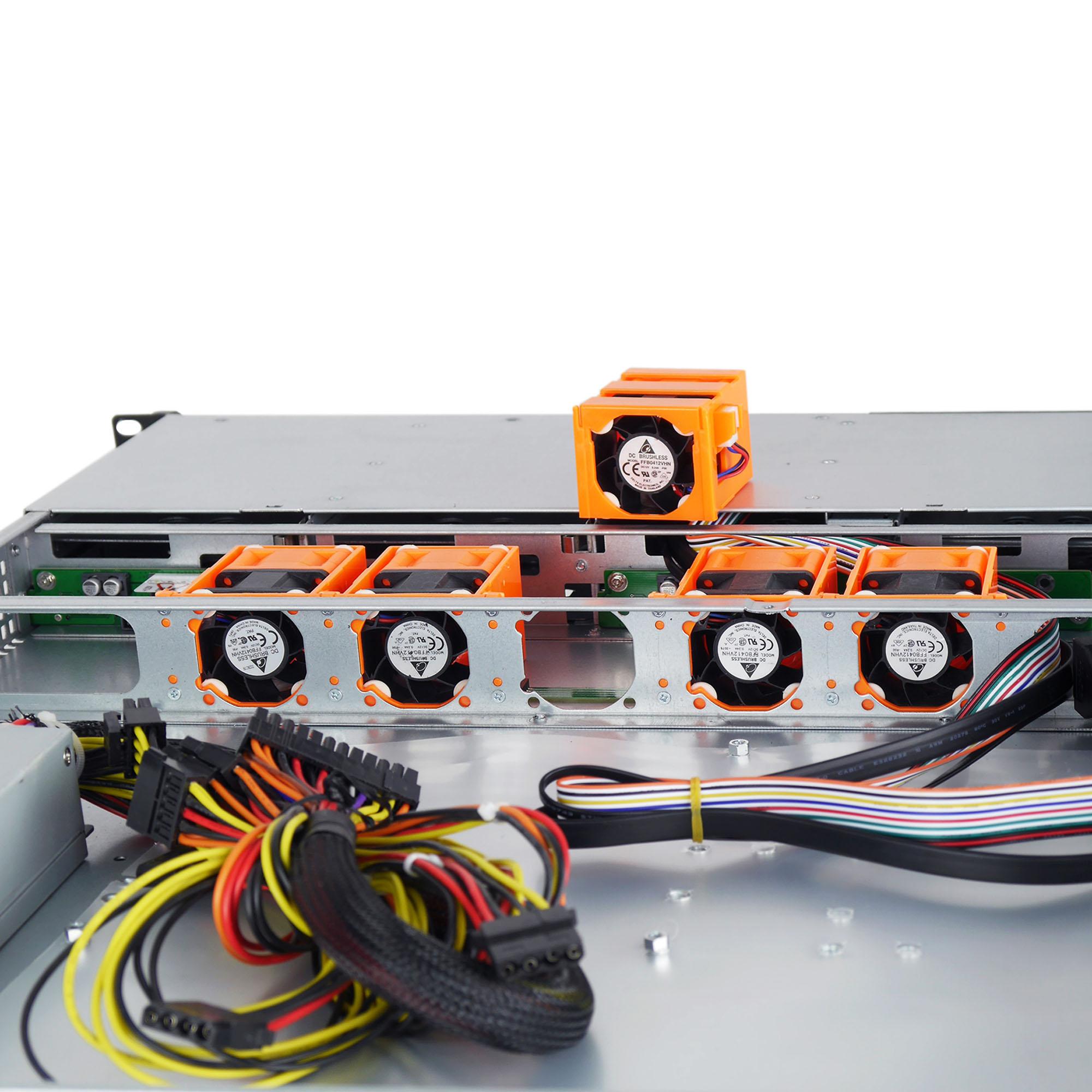 Серверный корпус 1U NR-R104 400Вт 4xHot Swap SAS/SATA(EATX 12x13, Slim CD, 650mm) черный
