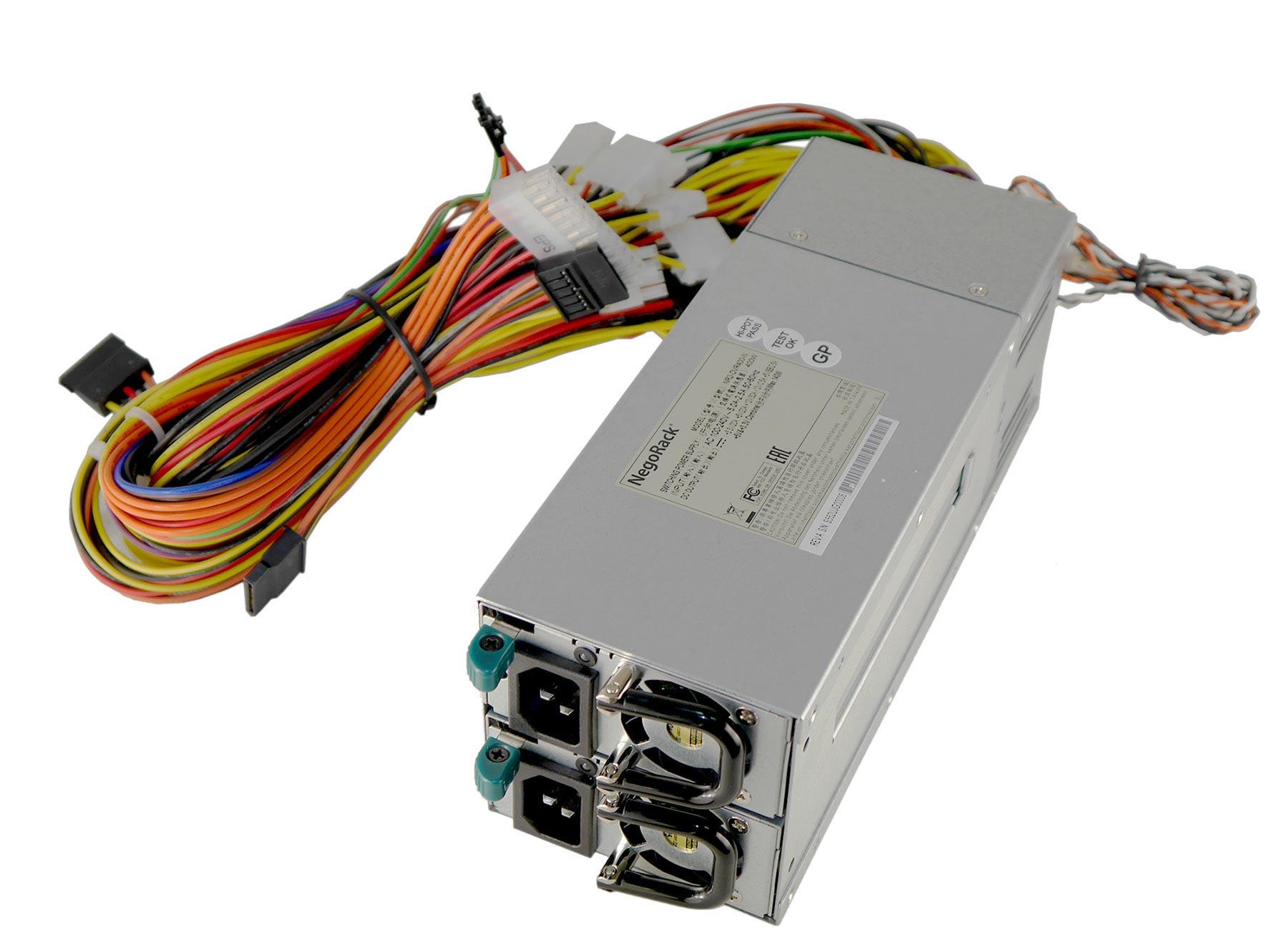 Блок питания ATX NR2-HVR400-N 2x400Вт с резервированием, КПД 95% PFC, EPS12V, 1U, Negorack