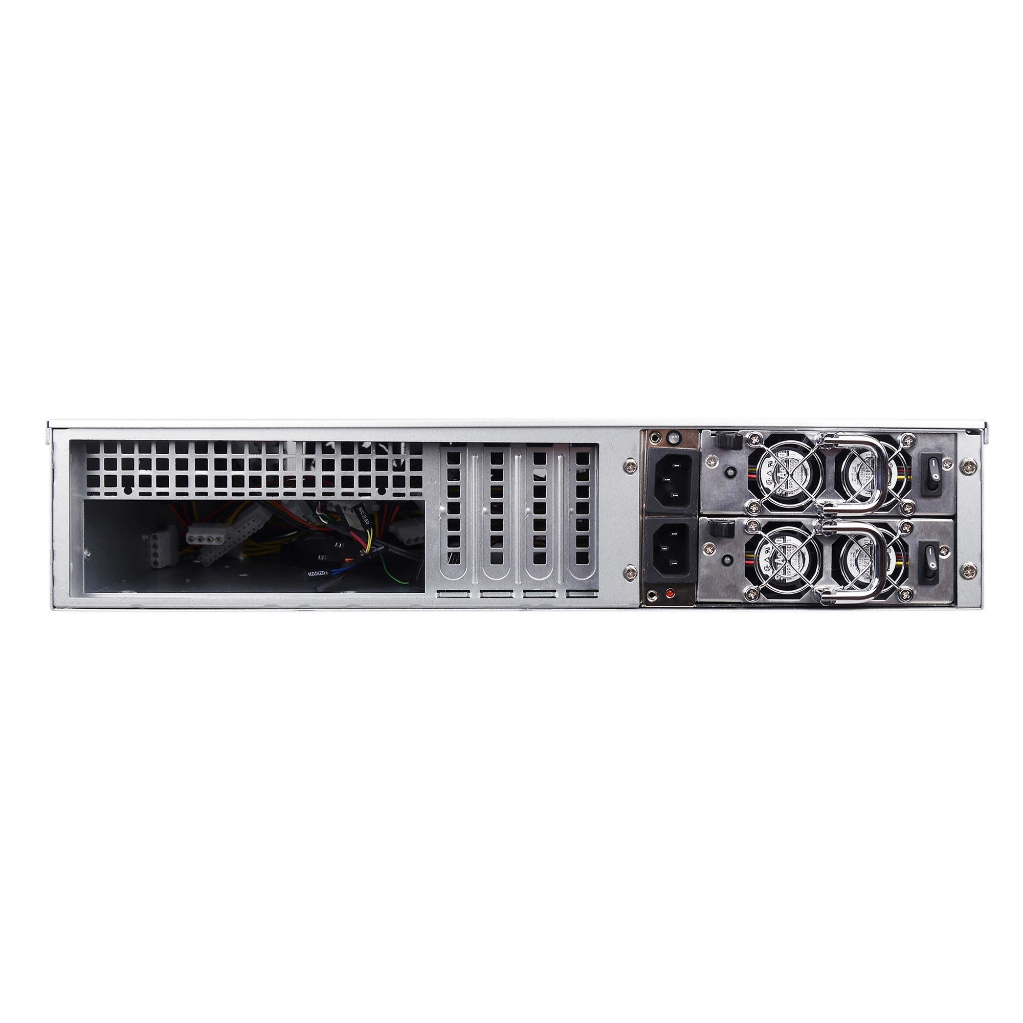 Серверный корпус 2U NR-N2442-H8 (EATX 12x13, 8x 2.5 HS SAS/SATA, 2x3.5int, 480mm), чёрный, NegoRack