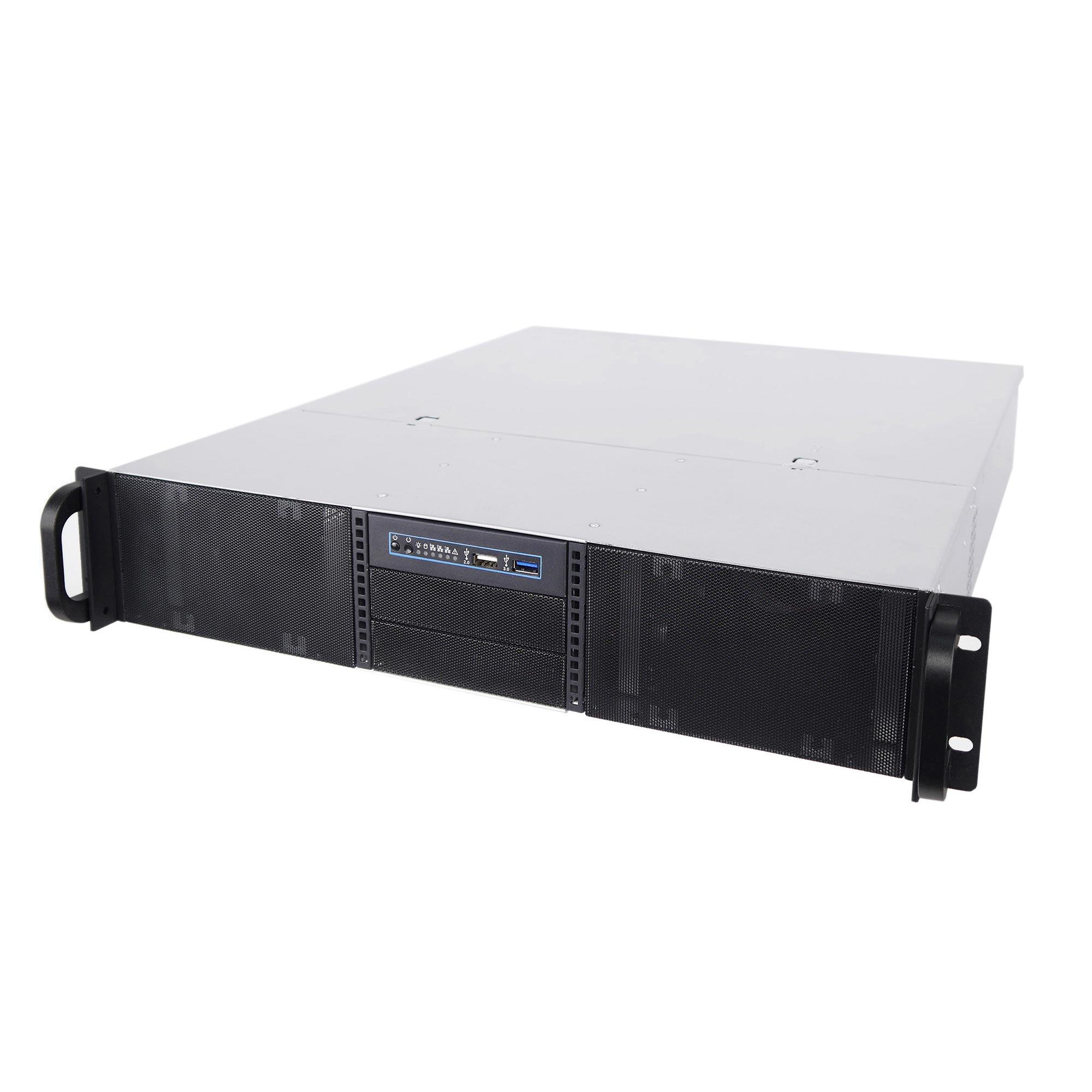 Серверный корпус 2U NR-N2542 850Вт (MicroATX, 4x5.25ext (6x3.5int), 2x3.5int, 550mm),чёрный,NegoRack