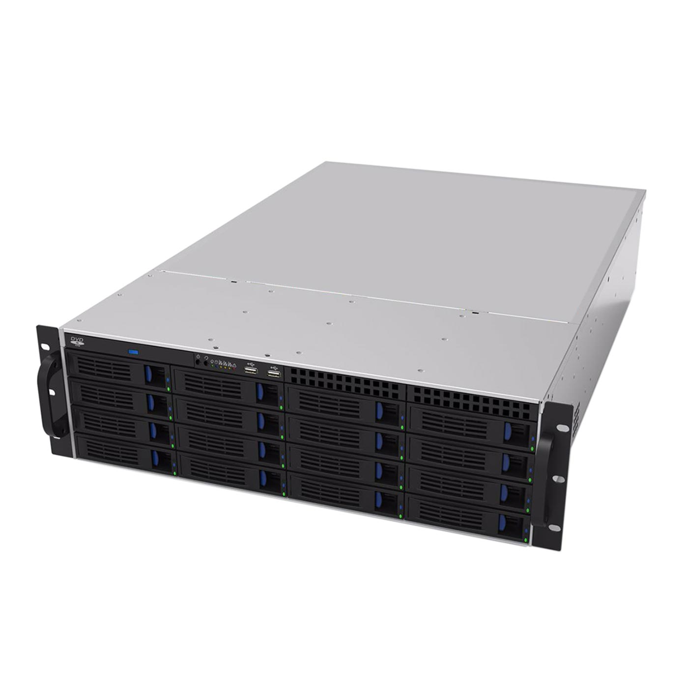 Серверный корпус 3U NR-R316 БП 2x1000Вт 16xHot Swap SAS/SATA (EATX 12x13, Slim CD, 650mm) черный