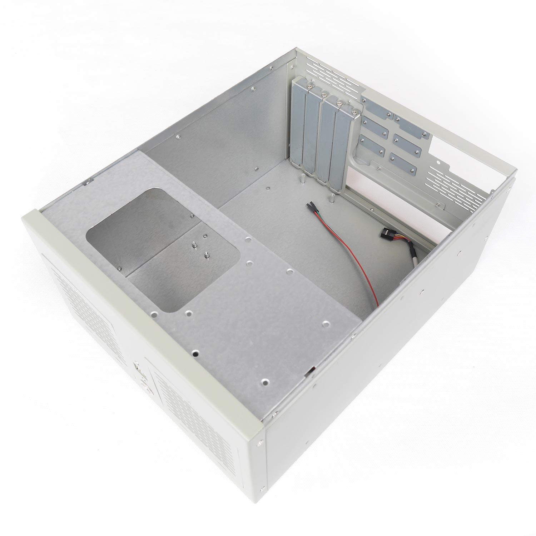 """Компактный корпус NR-W53 (ATX 9.6x9.6, БП Flex, 1х3.5"""" (1x2.5""""), 260x150x330мм, бежевый, Negorack"""