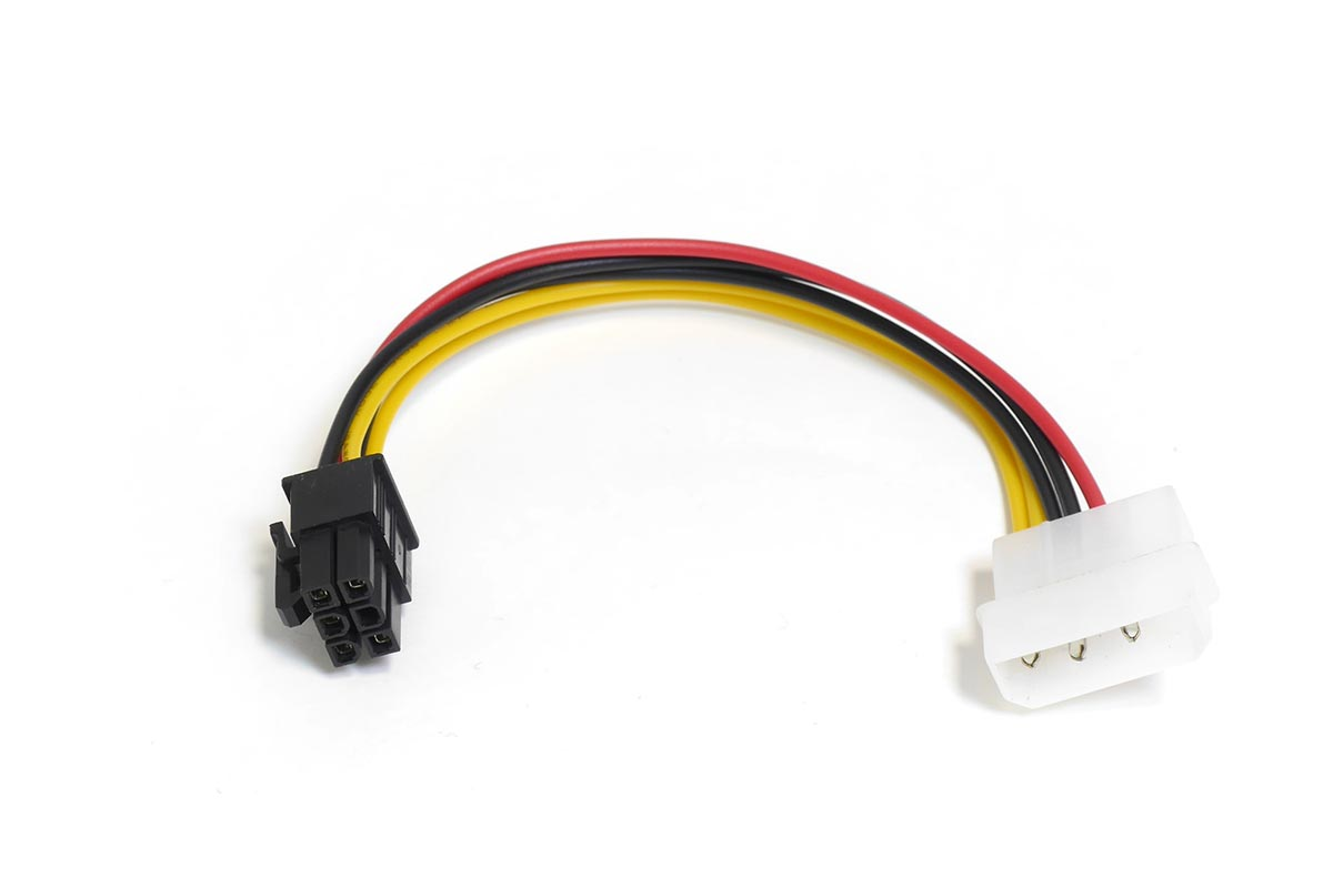 Переходник питания 4pin Molex — 6pin для видеоадаптера