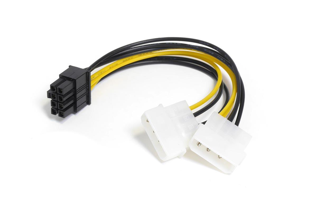 Переходник питания 2x 4pin Molex — 8pin для видеоадаптера