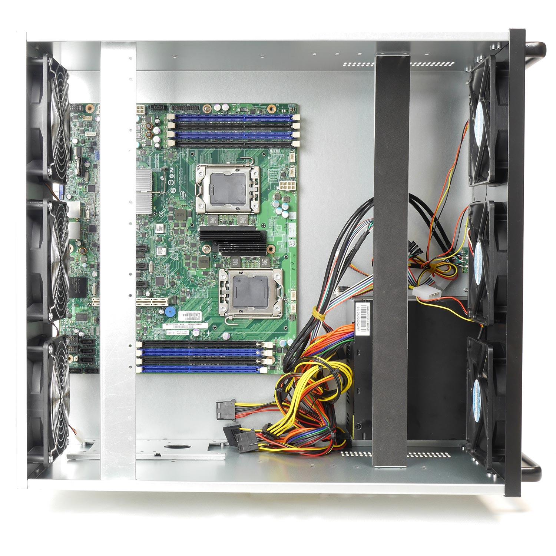 Корпус для майнинг фермы 6U NR-M66 1600Вт (6xGPU, ATX 12x9.6, 1x3.5int), 470mm, черный, NegoRack