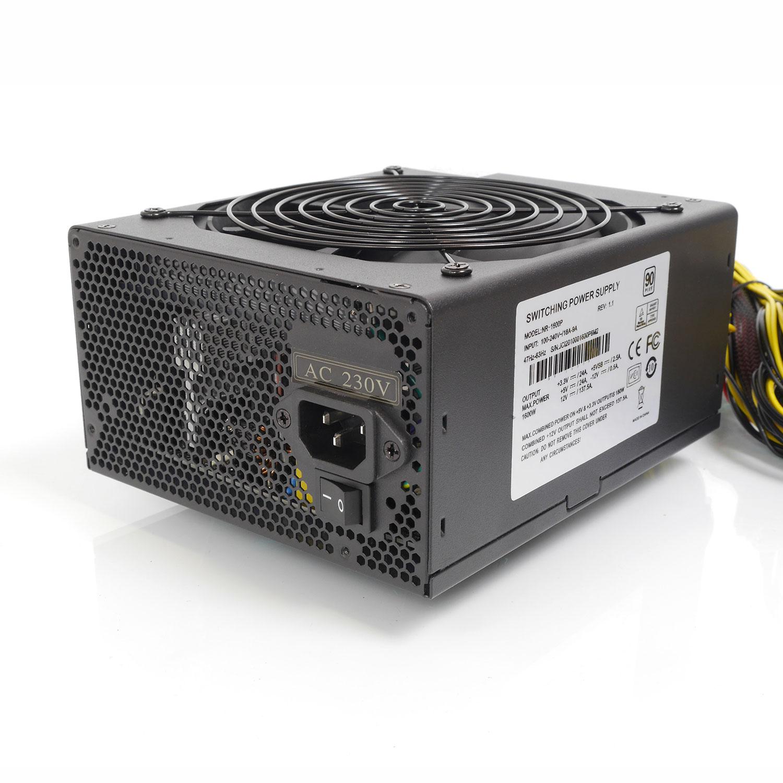 Блок питания ATX 1600Вт NR-1600P (24pin+8pin,PCI-E 8pin x6, IDE x6, SATA x4) PS/2, PFC, Negorack