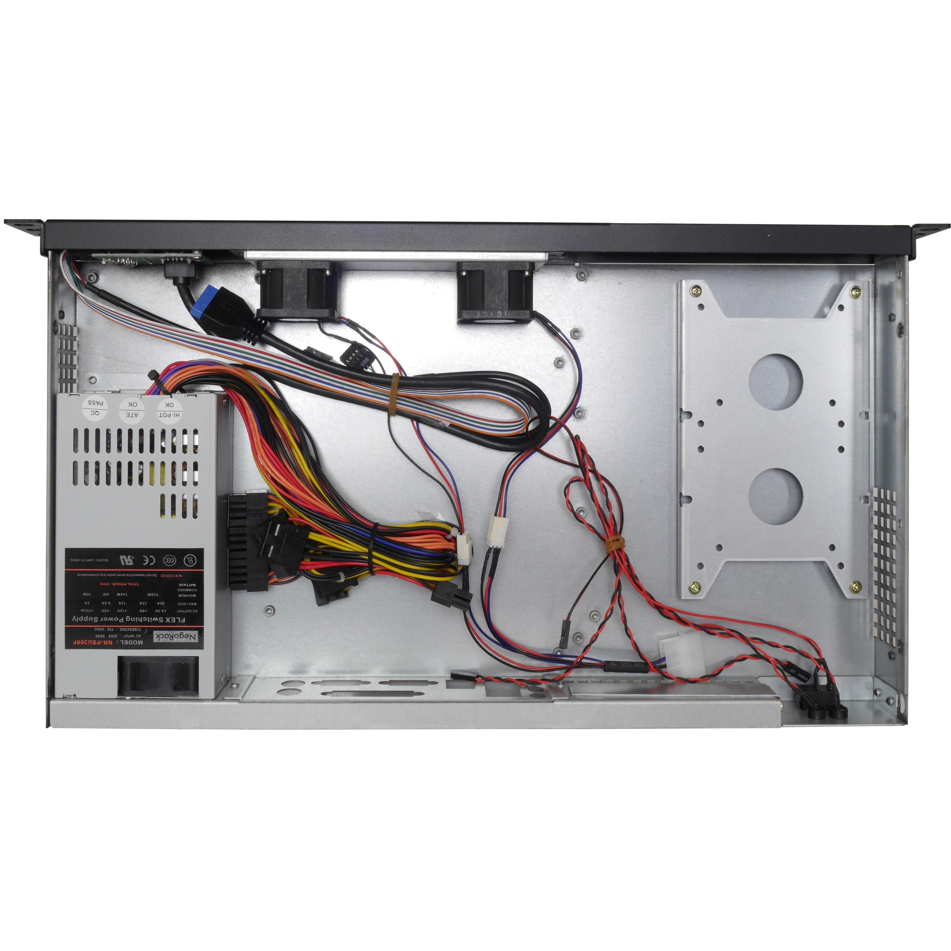 Серверный корпус 1U NR-N125CD 300Вт(MiniITX, 1x5.25 or 1x3.5int or 2x2.5int, 250mm) черный, NegoRack