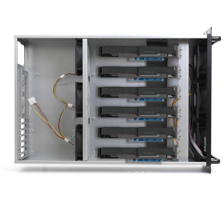 Корпус для майнинг фермы 4U NR-M48B (6xGPU или 8хGPU, ATX 12x9.6, 1x3.5int), 650mm, черный, NegoRack