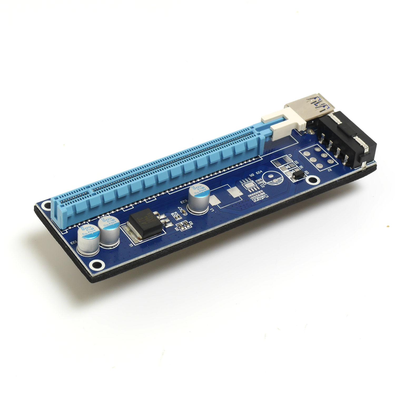 Райзер PCI-E X1 M to PCI-E X16 F, версия 007
