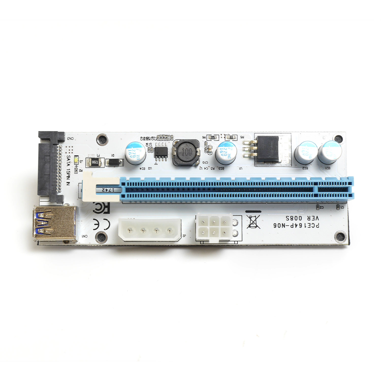 Райзер PCI-E X1 M to PCI-E X16 F, версия 008S