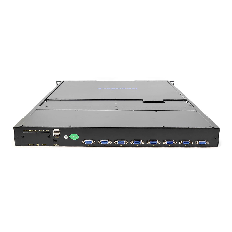 """Консоль 1U NR-MDR2908UDL, 19"""" ЖК, 8 портов KVM, Монитор, клавиатура, тачпад, кабели 8шт., Negorack"""
