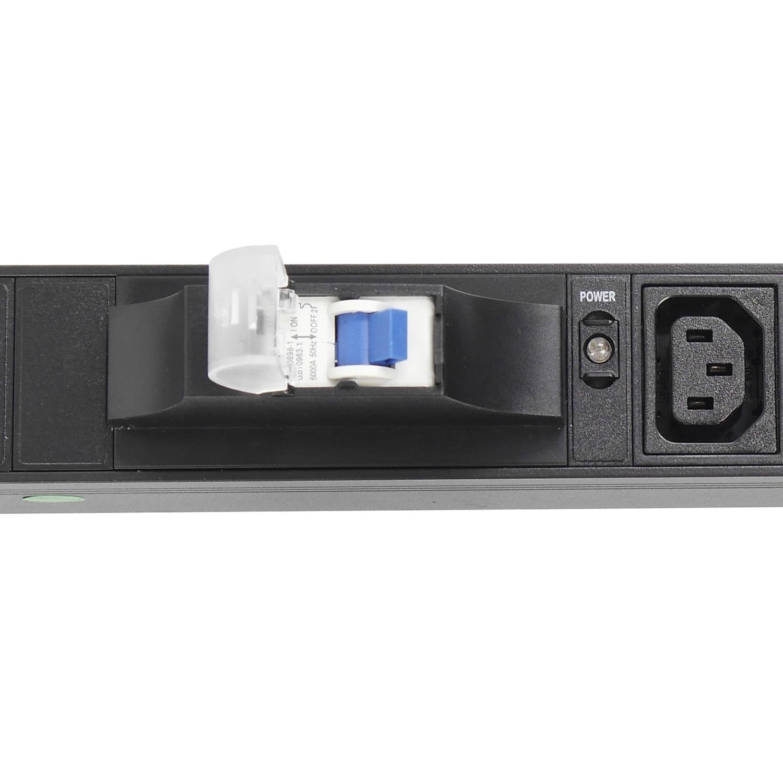 """Блок силовых розеток в стойку 19"""" NR-PDU8C13-32A-B-I-2M, 32А, 8xC13, вход IEC60309, 2м,1U, Negorack"""