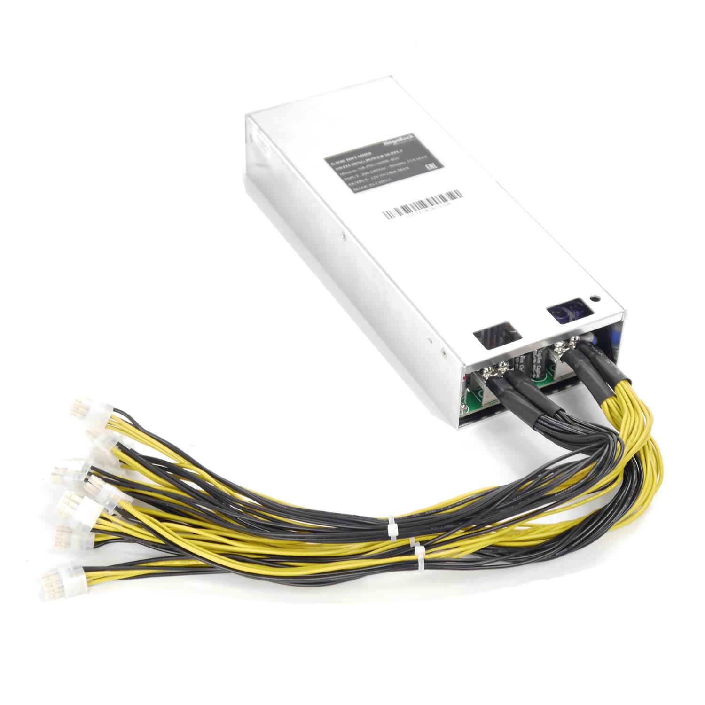 Блок питания 1U ATX NR-PSU1800W-BTC, 1800Вт, 150A, PCI-E 8pin x10, 1U, КПД 93%, Negorack