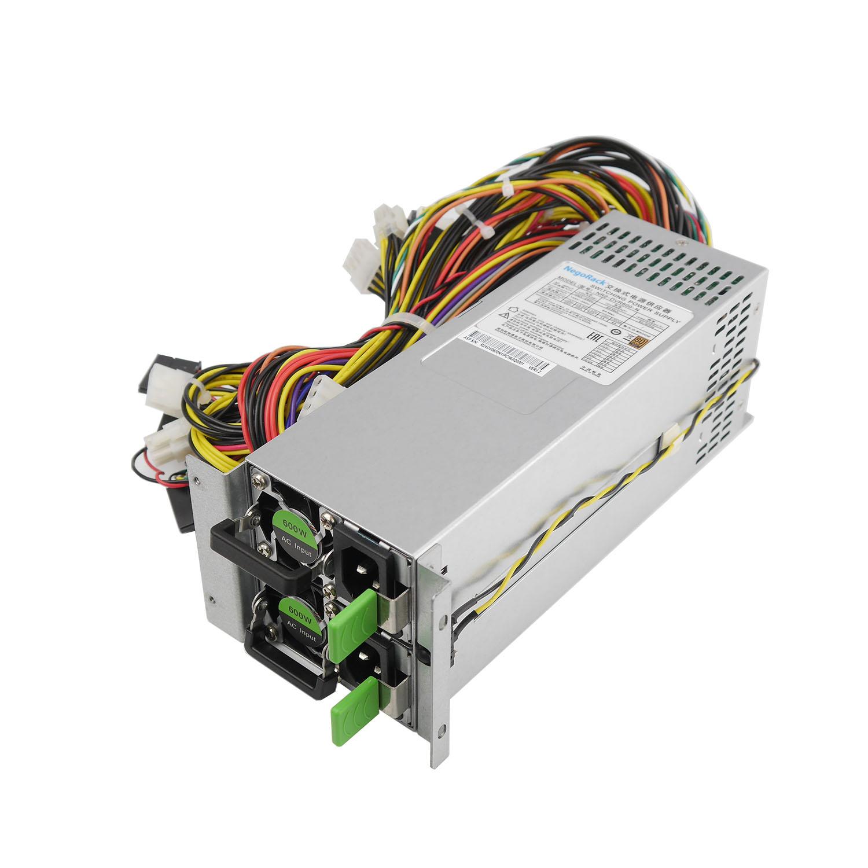 Блок питания ATX NR2-DVR600-N Rev2 2x600Вт с резервированием, КПД 95% PFC, EPS12V, 2U, Negorack