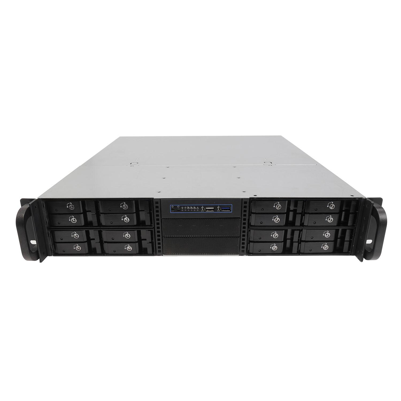 Серверный корпус 2U NR-N2442-H16 (EATX 12x13,16x 2.5 HS SAS/SATA, 2x3.5int, 480mm), чёрный, NegoRack