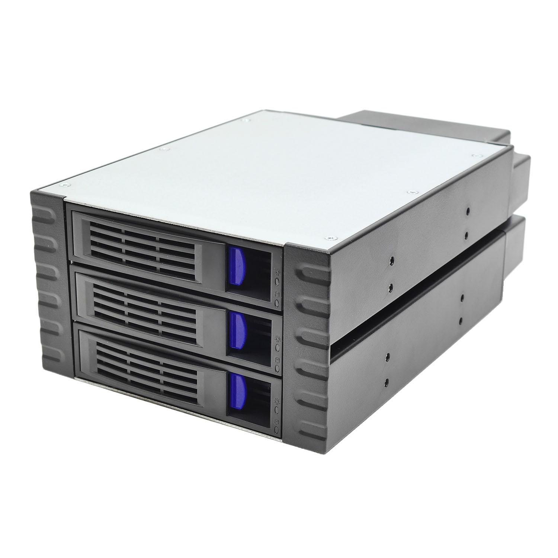"Корзина NR-BP352 2x5,25"" с функцией ""горячей замены"" для 3х3.5"" SAS/SATA HDD,металл,черная,Negorack"