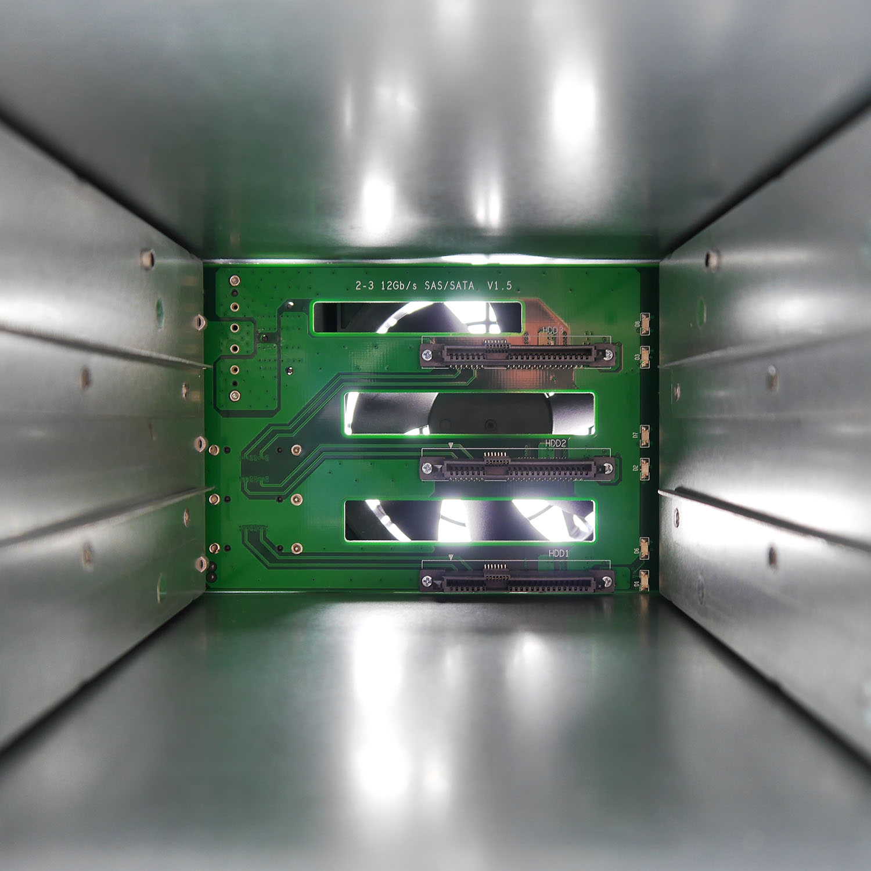 """Корзина NR-BP352 2x5,25"""" с функцией """"горячей замены"""" для 3х3.5"""" 12Гб/с SAS/SATA HDD, черная,Negorack"""