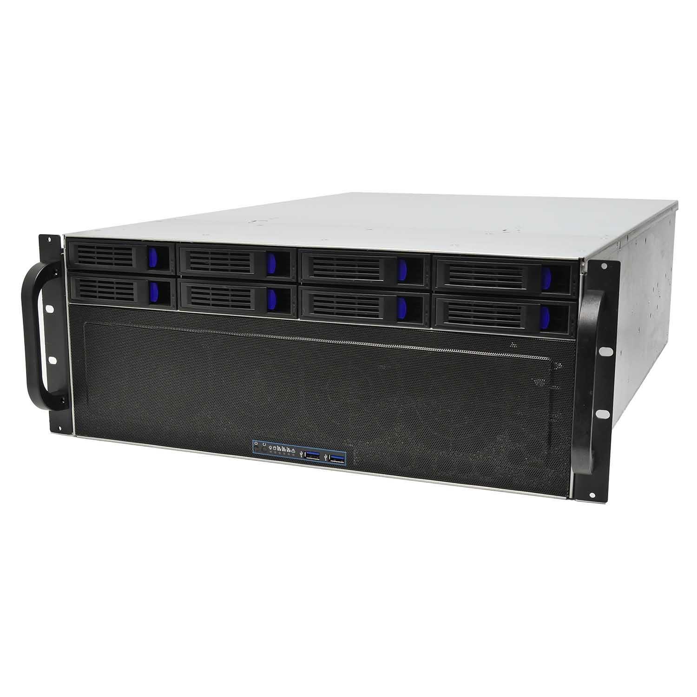 Серверный корпус 4U NR-R4109 8xHot Swap SAS/SATA (EATX 12x13), 650mm, черный, Negorack