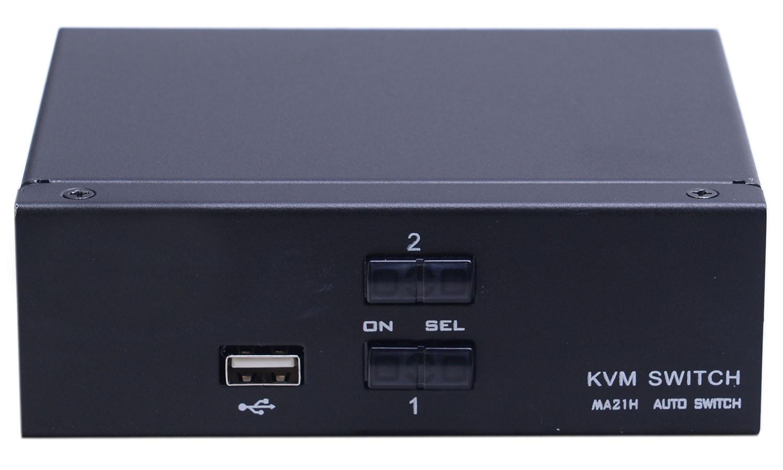 Переключатель KVM 2 порта HDMI, Audio, Microphone, 2xUSB, NR-MA21H, Negorack
