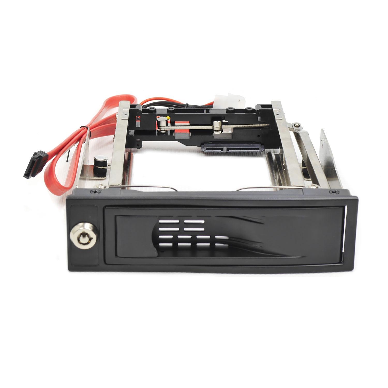 "Корзина NR-BP11S 1x5,25"" с функцией ""горячей замены"" для 1х3.5"" SATA HDD, металл, черная"