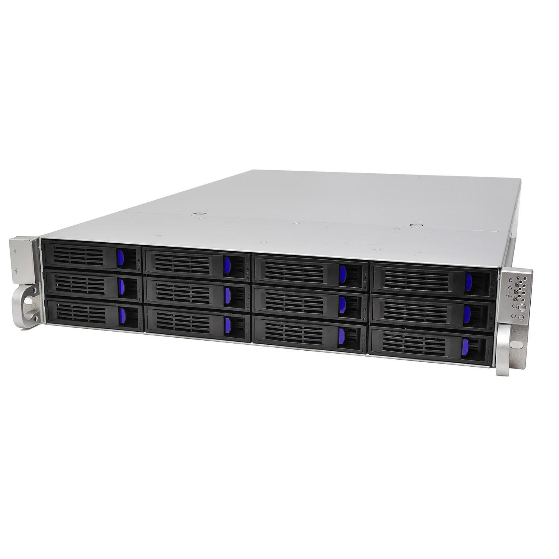Серверный корпус 2U NR-R212 2x1600Вт 12xHot Swap SAS/SATA (EATX 12x13, 650mm) черный