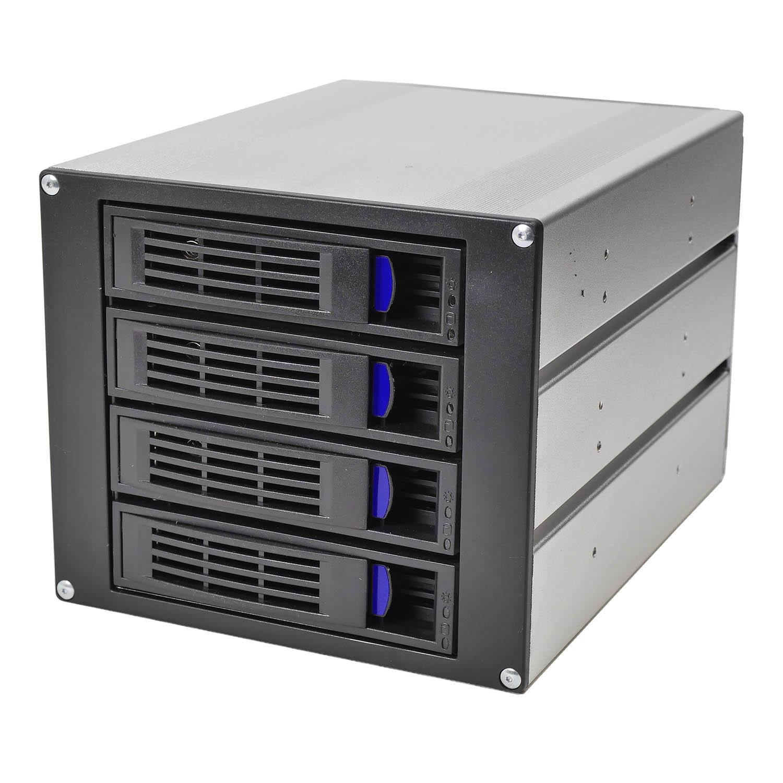 """Корзина NR-BP453 3x5,25"""" с функцией """"горячей замены"""" для 4х3.5"""" 12Гб/с SAS/SATA HDD, черная,Negorack"""