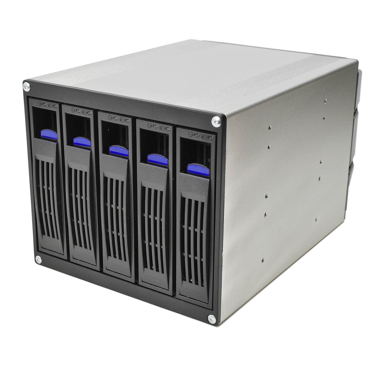 """Корзина NR-BP553 3x5,25"""" с функцией """"горячей замены"""" для 5х3.5"""" 12Гб/с SAS/SATA HDD, черная,Negorack"""