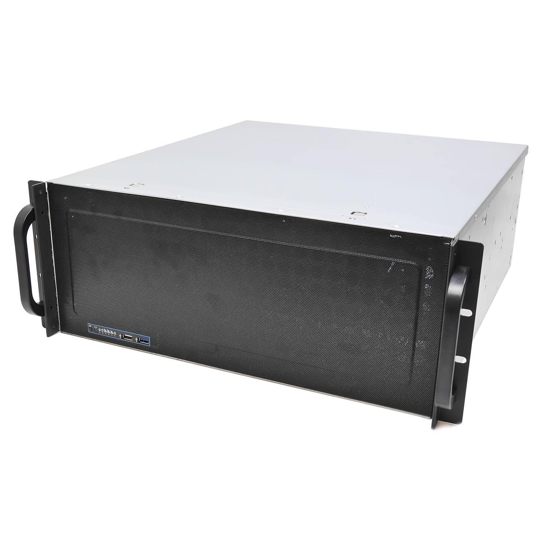 """Серверный корпус 4U NR-N4815 2x1600Вт (EATX 12x13, 15x3.5""""int, 480mm), черный, Negorack"""