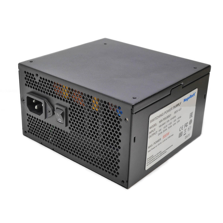 Блок питания ATX 850Вт NR-PSU8501 rev4, PS/2, EPS12V, активный PFC, Negorack
