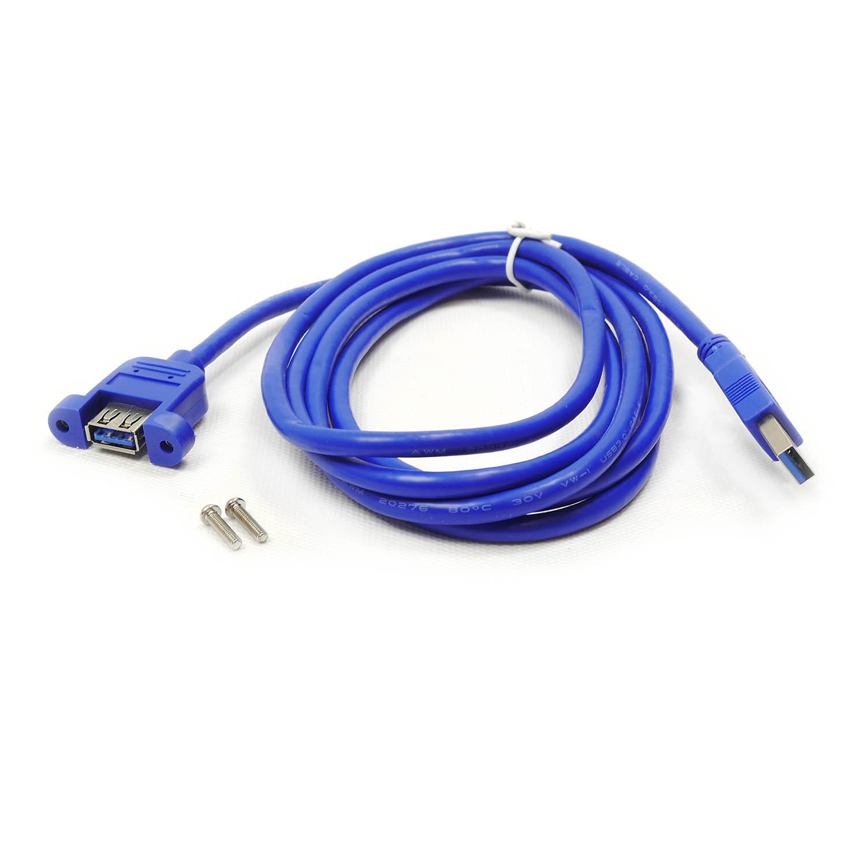 Кабель удлинитель 2м USB 3,0 Type-A (male) - Type-A (female, под винты), CBL-047