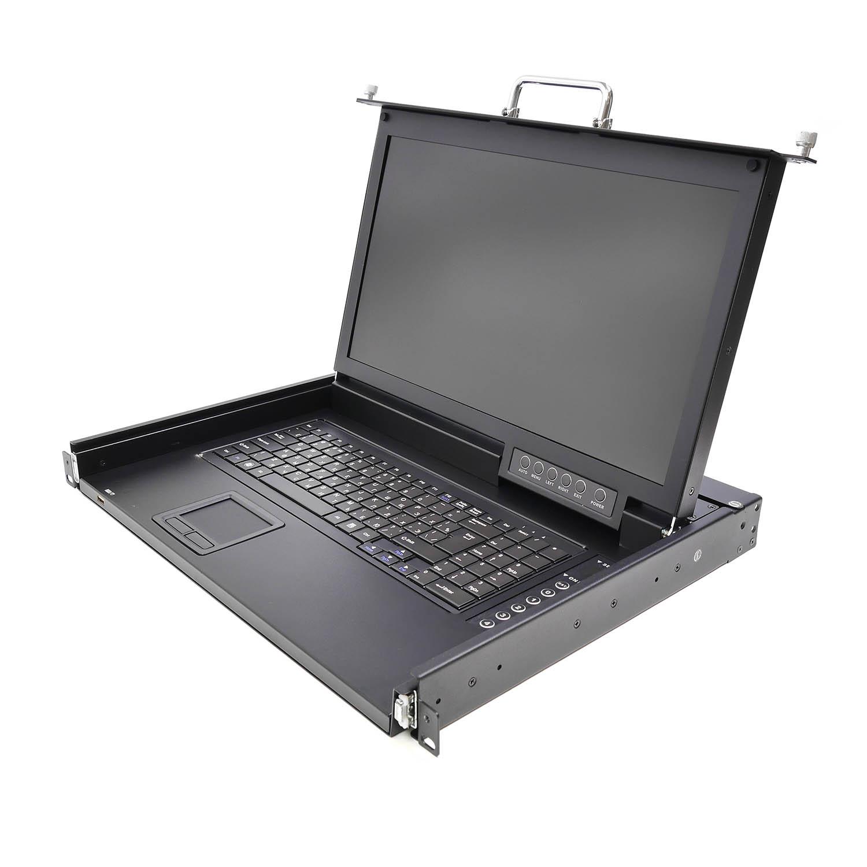 """Консоль 1U NR-MSR2704S rev2, 17"""" ЖК, 4 порта KVM, клавиатура, тачпад, кабели 4шт, Negorack"""