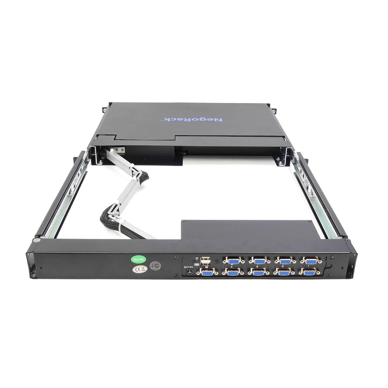 """Консоль 1U NR-MSR2708S rev2, 17"""" ЖК, 8 портов KVM, клавиатура, тачпад, кабели 8шт, Negorack"""