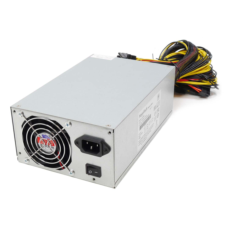 Блок питания ATX 2000Вт NR-2000P (24pin+8pin,PCI-E 8pin x16, IDE x5, SATA x7) PS/2, PFC, Negorack
